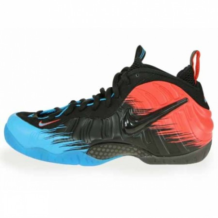 Nike Air Foamposite Pro Prm Spiderman Vivid Blue Black-Lt Crimson 616750-400