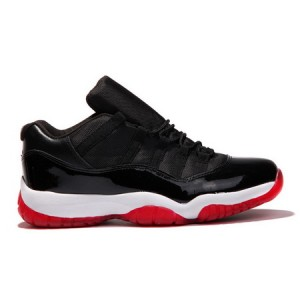 Nike Air Jordan Retro 11 Low Bred Black Red