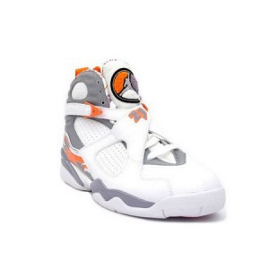 Nike Air Jordan Retro 8 White Orange Silver